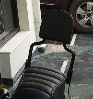 Black Classic Backrest H-D Sportster models