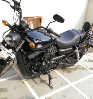Black Backrest with Rack Street 500/750